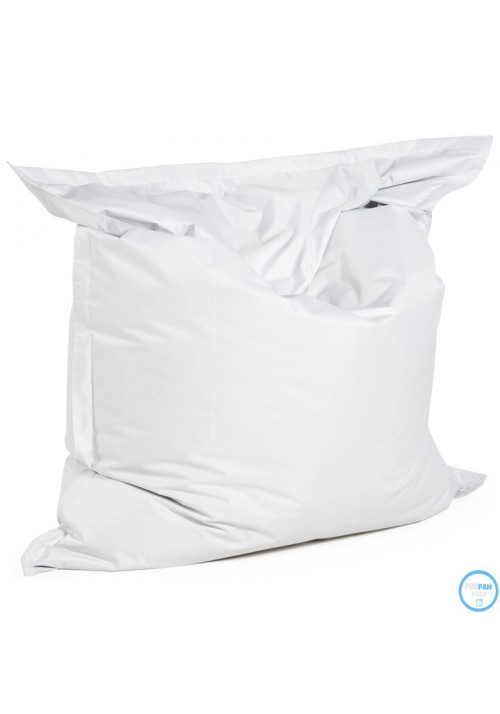 Pouf Géant Sac à Billes Blanc