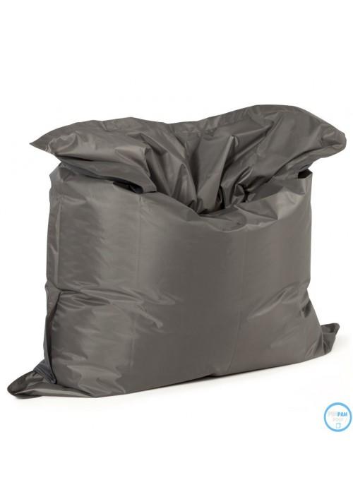 pouf g ant sac billes gris fonc. Black Bedroom Furniture Sets. Home Design Ideas