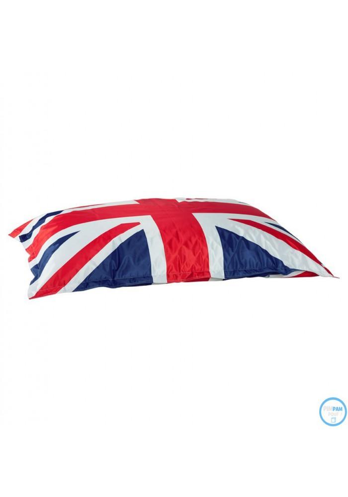 Pouf billes g ant xl petit prix coloris drapeau anglais for Pouf drapeau anglais