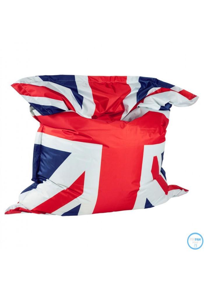 pouf billes g ant xl petit prix coloris drapeau anglais. Black Bedroom Furniture Sets. Home Design Ideas
