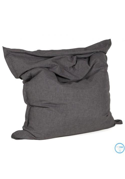 Pouf Géant Sac à Billes Tissu gris