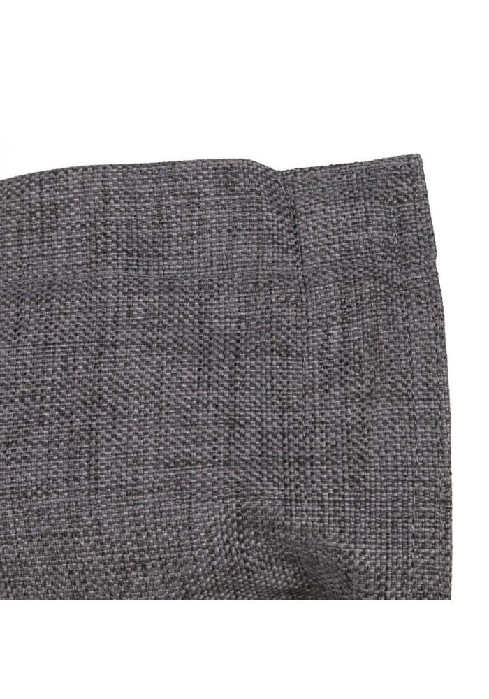 pouf g ant sac billes tissu gris. Black Bedroom Furniture Sets. Home Design Ideas