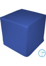 Pouf Cube en simili cuir -H. 42 cm