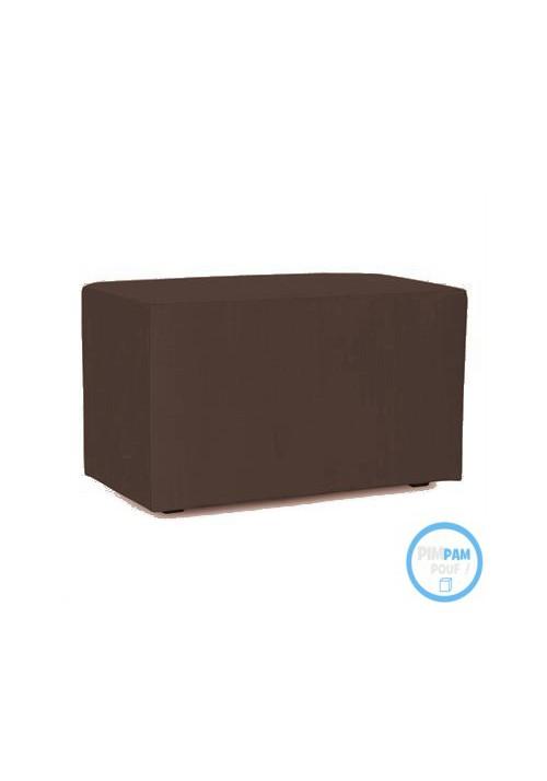 Banc en simili cuir -H. 42 cm