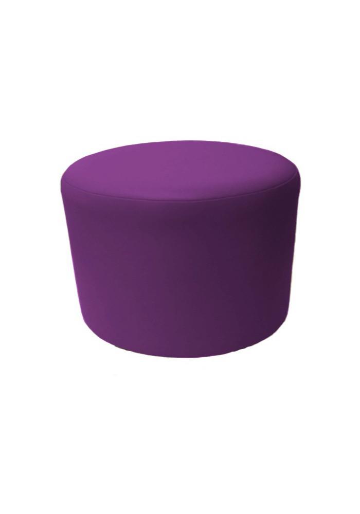 pouf rond 60 en simili cuir h 42 cm. Black Bedroom Furniture Sets. Home Design Ideas